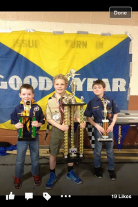 2016 Pinewood Derby Winners